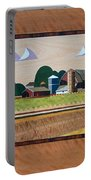 Blue Silo-marquetry Portable Battery Charger