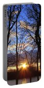 Blue Skies And Golden Sun Portable Battery Charger