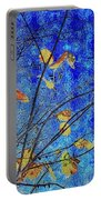 Blue Skies And Last Leaves Of Fall Portable Battery Charger