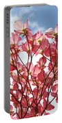 Blue Sky Clouds Landscape 7 Pink Dogwood Tree Baslee Troutman Portable Battery Charger