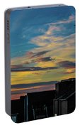 Blue Sky Colorful Sunset Portable Battery Charger