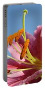 Blue Sky Florals Art Pink Calla Lily Blooming Baslee Troutman Portable Battery Charger