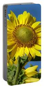 Blue Sky Sunflower Day Portable Battery Charger