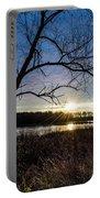 Blue Sky Sunrise On The Marsh Portable Battery Charger