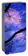 Blue Sky Through The Trees Portable Battery Charger