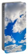 Blue Sky With Cloud Closeup 2 Portable Battery Charger