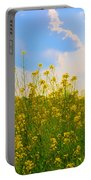Blue Sky Yellow Flowers Portable Battery Charger