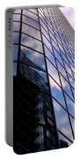 Blue Skyscrapper With A Blue Sky In New Orleans Louisiana Portable Battery Charger