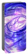 Blue Smoke Abstract Portable Battery Charger