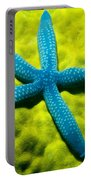 Blue Starfish On Poritirs Portable Battery Charger