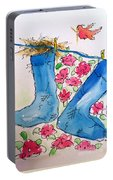 Blue Stockings Portable Battery Charger