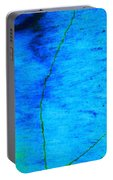 Blue Stone Abstract Portable Battery Charger