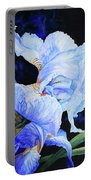 Blue Summer Iris Portable Battery Charger
