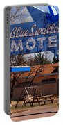 Blue Swallow Motel On Route 66 Portable Battery Charger