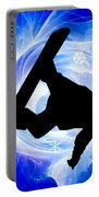 Blue Swirl Snowstorm Portable Battery Charger