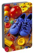 Blue Tennis Shoes Portable Battery Charger