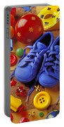 Blue Tennis Shoes Portable Battery Charger by Garry Gay