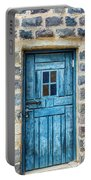 Blue Traditional Door Portable Battery Charger