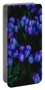 Blue Tulips Portable Battery Charger