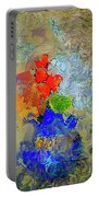 Blue Vase, Red Flowers Portable Battery Charger