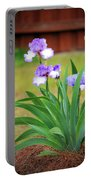 Blue Violet Irises  Portable Battery Charger