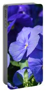 Blue Violets Portable Battery Charger