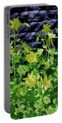 Blue Wall Yellow Columbine Portable Battery Charger