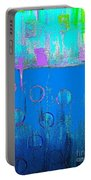 Blue Water And Sky Abstract Portable Battery Charger