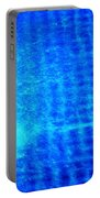 Blue Water Grid Abstract Portable Battery Charger