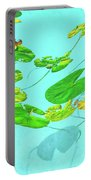 Blue Water Lilies Portable Battery Charger