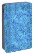Blue Water Patchwork Portable Battery Charger