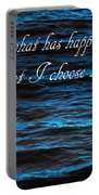 Blue Water With Inspirational Text Portable Battery Charger