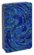 Blue Whirl Wind In The Sky Portable Battery Charger