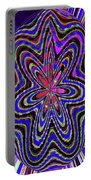 Blue White And Red Abstract #2944e2c Portable Battery Charger