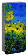 Blue Wild Flowers Portable Battery Charger