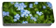 Blue Wildflowers Forget Me Nots Portable Battery Charger