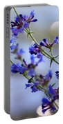 Blue Wildflowers Over Rimrock Lake Portable Battery Charger