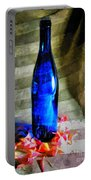 Blue Wine Bottle Portable Battery Charger