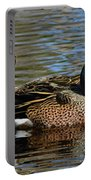 Blue Winged Teal Pair Portable Battery Charger