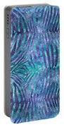 Blue Zebra Print Portable Battery Charger