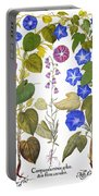 Bluebell And Morning Glory Portable Battery Charger