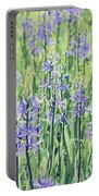 Bluebell Bluebells Flowers Blooming In Spring Portable Battery Charger