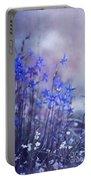 Bluebell Heaven Portable Battery Charger by Priska Wettstein