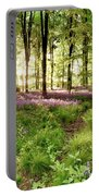 Bluebell Woods With Birds Flocking  Portable Battery Charger