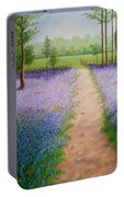 Bluebells With Butterflies Portable Battery Charger