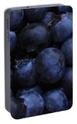 Blueberries Close-up - Horizontal Portable Battery Charger