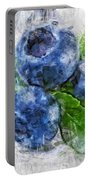 Blueberries Portable Battery Charger