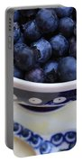 Blueberries With Spoon Portable Battery Charger
