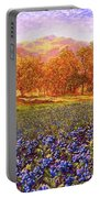 Blueberry Fields Portable Battery Charger