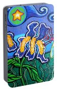 Bluebird Dragonfly And Irises Portable Battery Charger